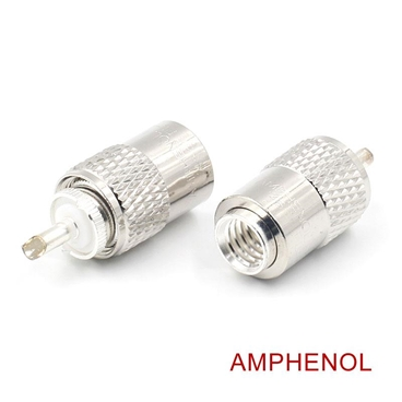 AMPHENOL UHF/PL-259 Male Solder Coax Connector for 50ohm Low Loss RG-213 RF Cable