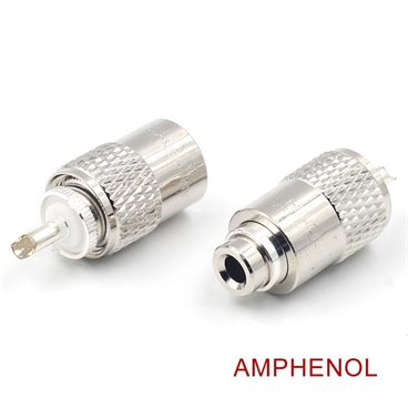 AMPHENOL UHF/PL-259 Male Solder Coax Connector With Reducer for 50ohm Low Loss RG-58 RF Cable